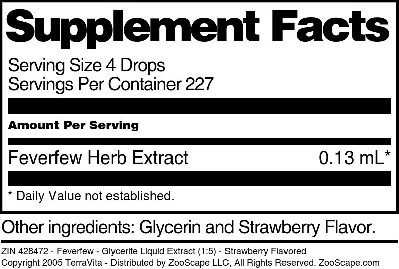 Feverfew - Glycerite Liquid Extract (1:5)