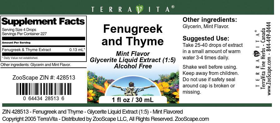 Fenugreek and Thyme
