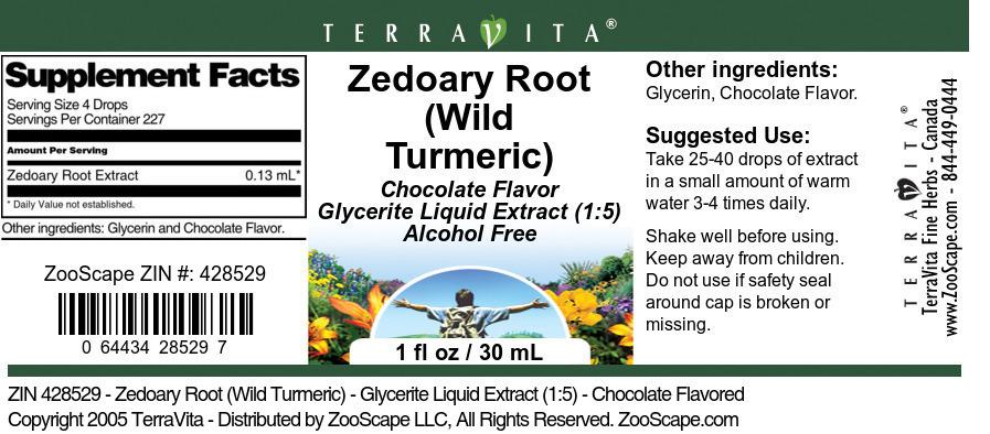 Zedoary Root (Wild Turmeric) - Glycerite Liquid Extract (1:5)