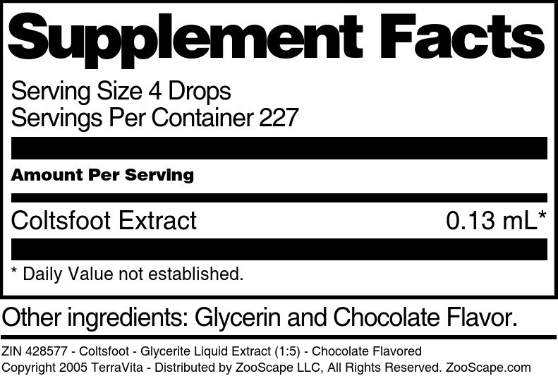 Coltsfoot - Glycerite Liquid Extract (1:5)