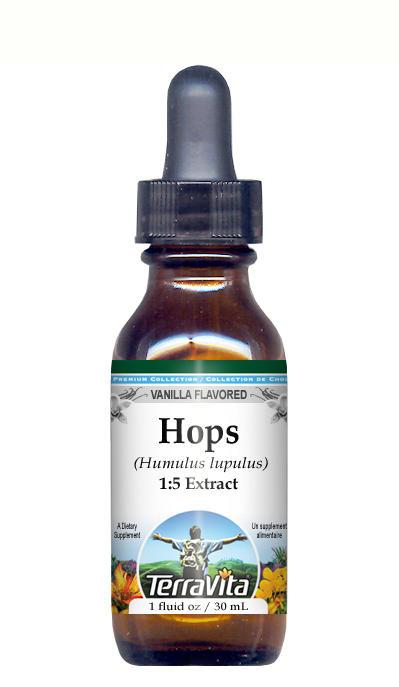 Hops - Glycerite Liquid Extract (1:5) - Vanilla Flavored