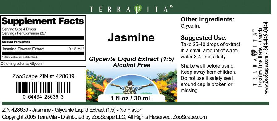 Jasmine - Glycerite Liquid Extract (1:5)