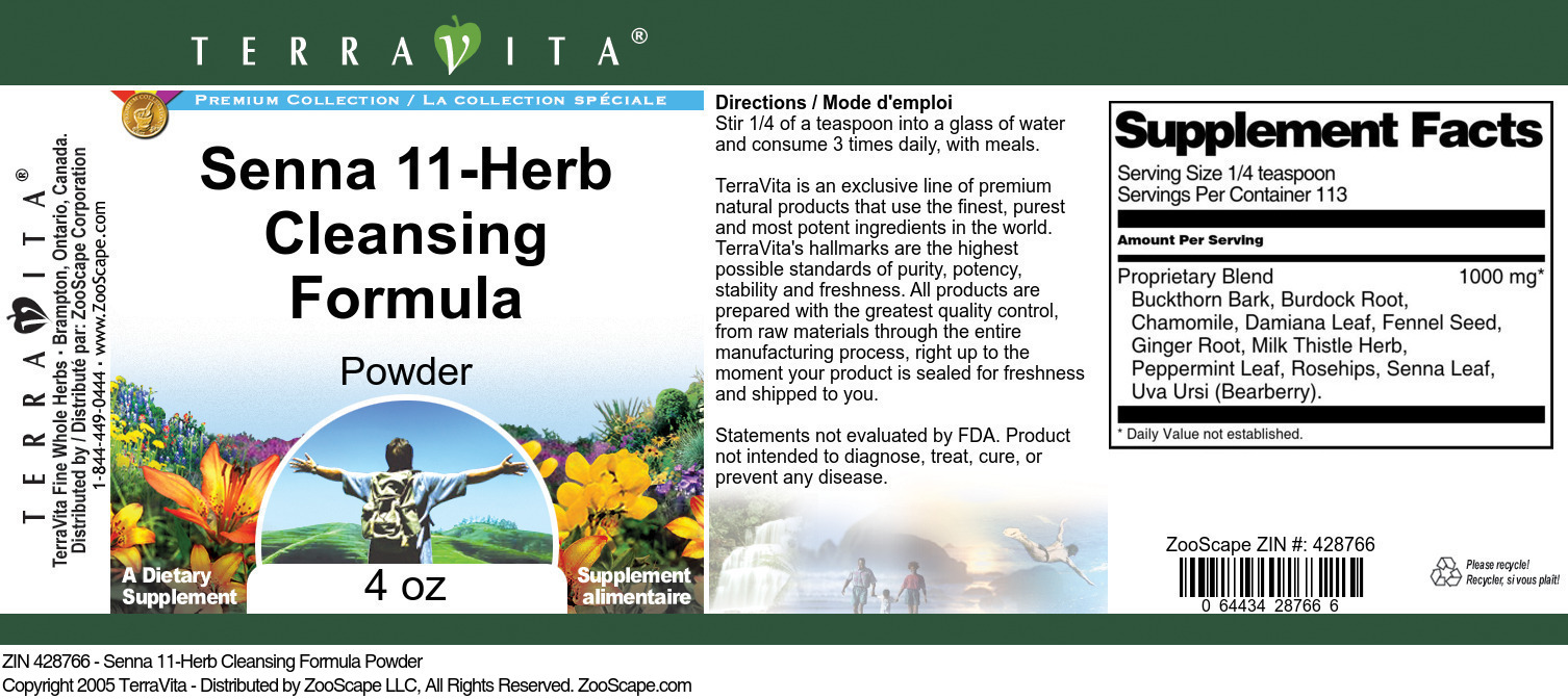 Senna 11-Herb Cleansing Formula Powder