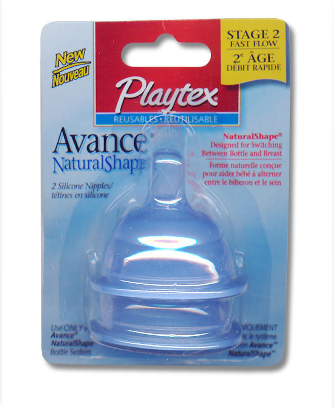 Avance Natural Shape Stage 2 Fast Flow Nipple - Set of 2