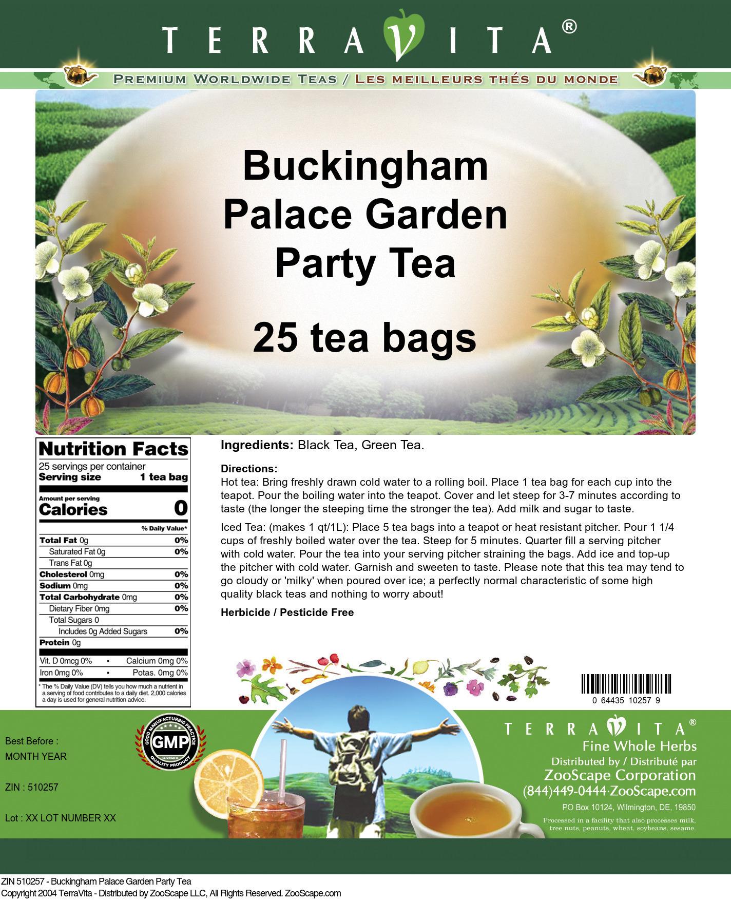 Buckingham Palace Garden Party Tea