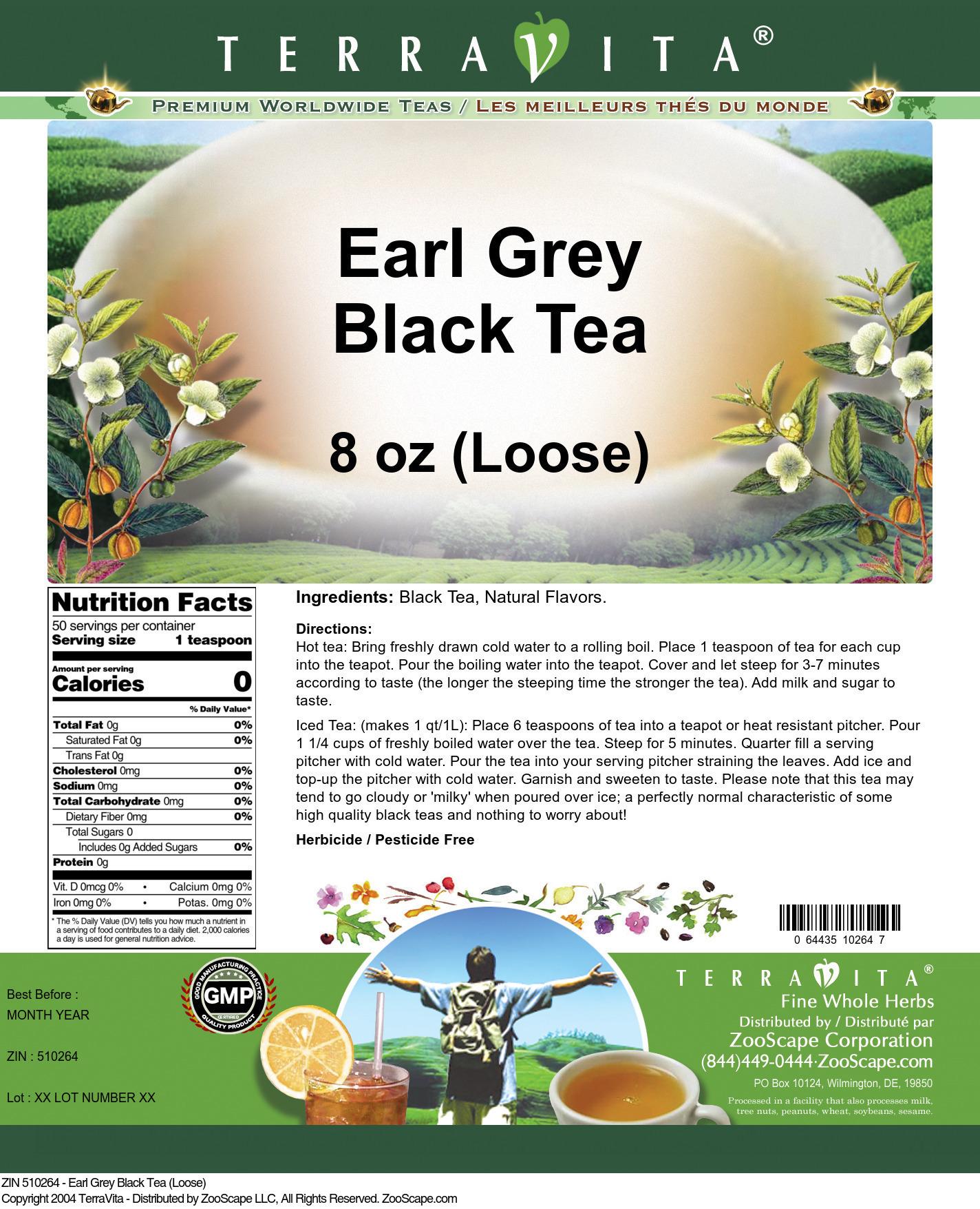 Earl Grey Black Tea (Loose)