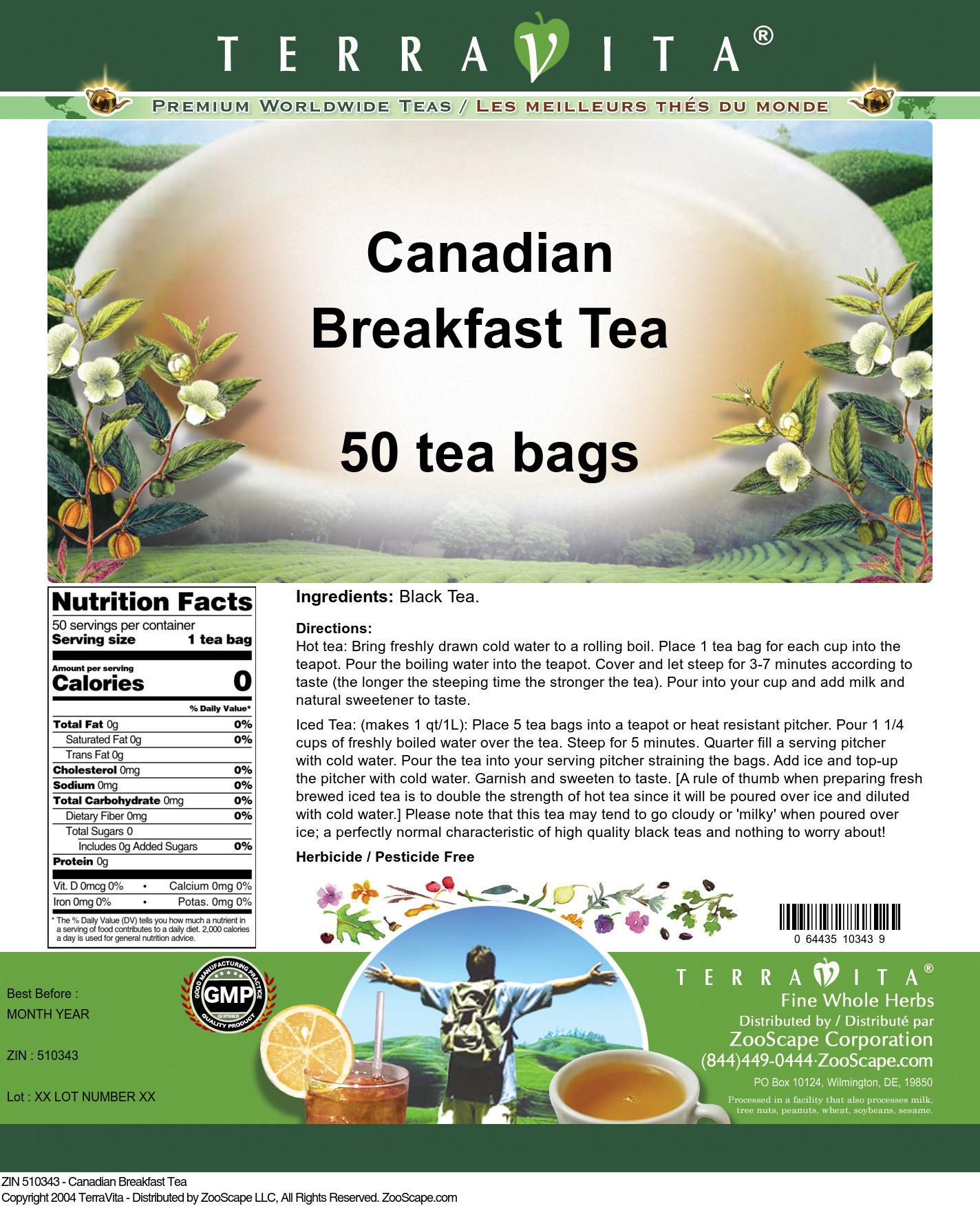 Canadian Breakfast Tea