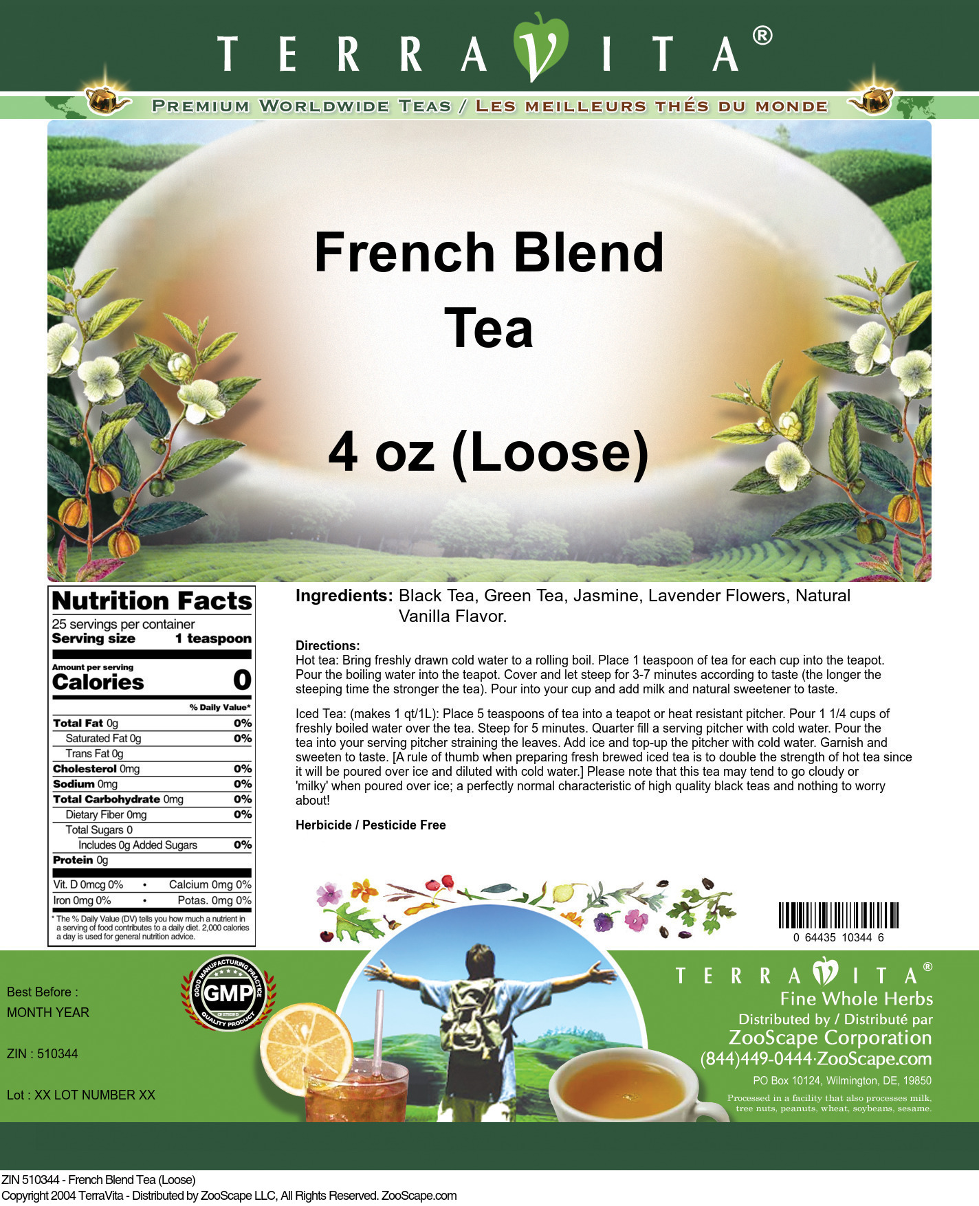 French Blend Tea (Loose)