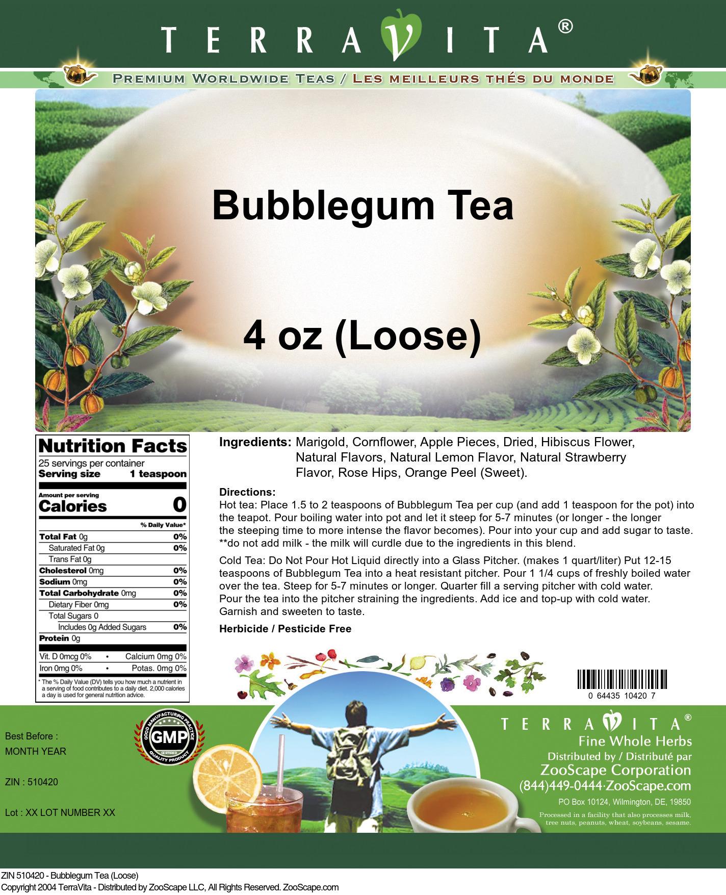 Bubblegum Tea (Loose) - Label