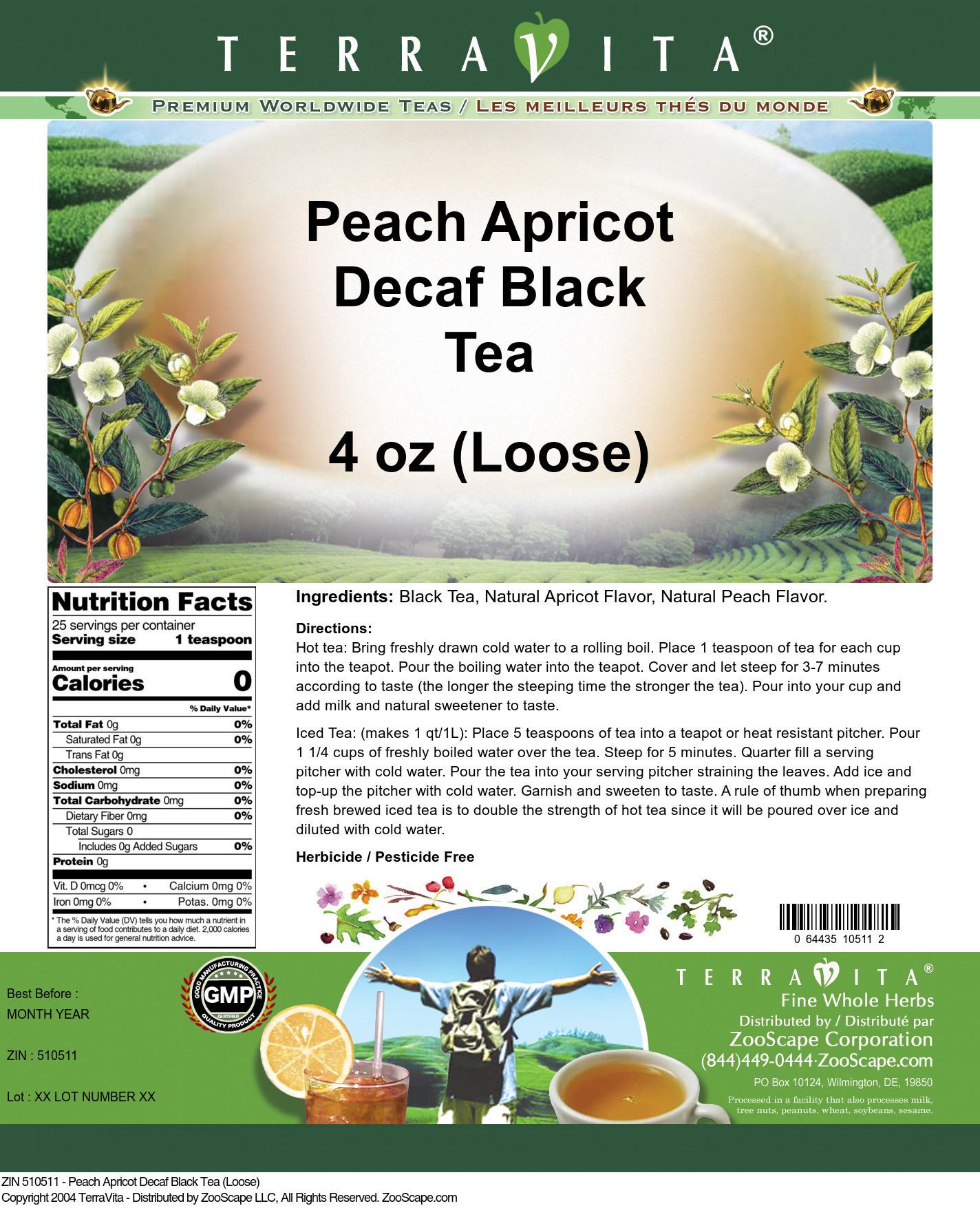 Peach Apricot Decaf Black Tea (Loose)