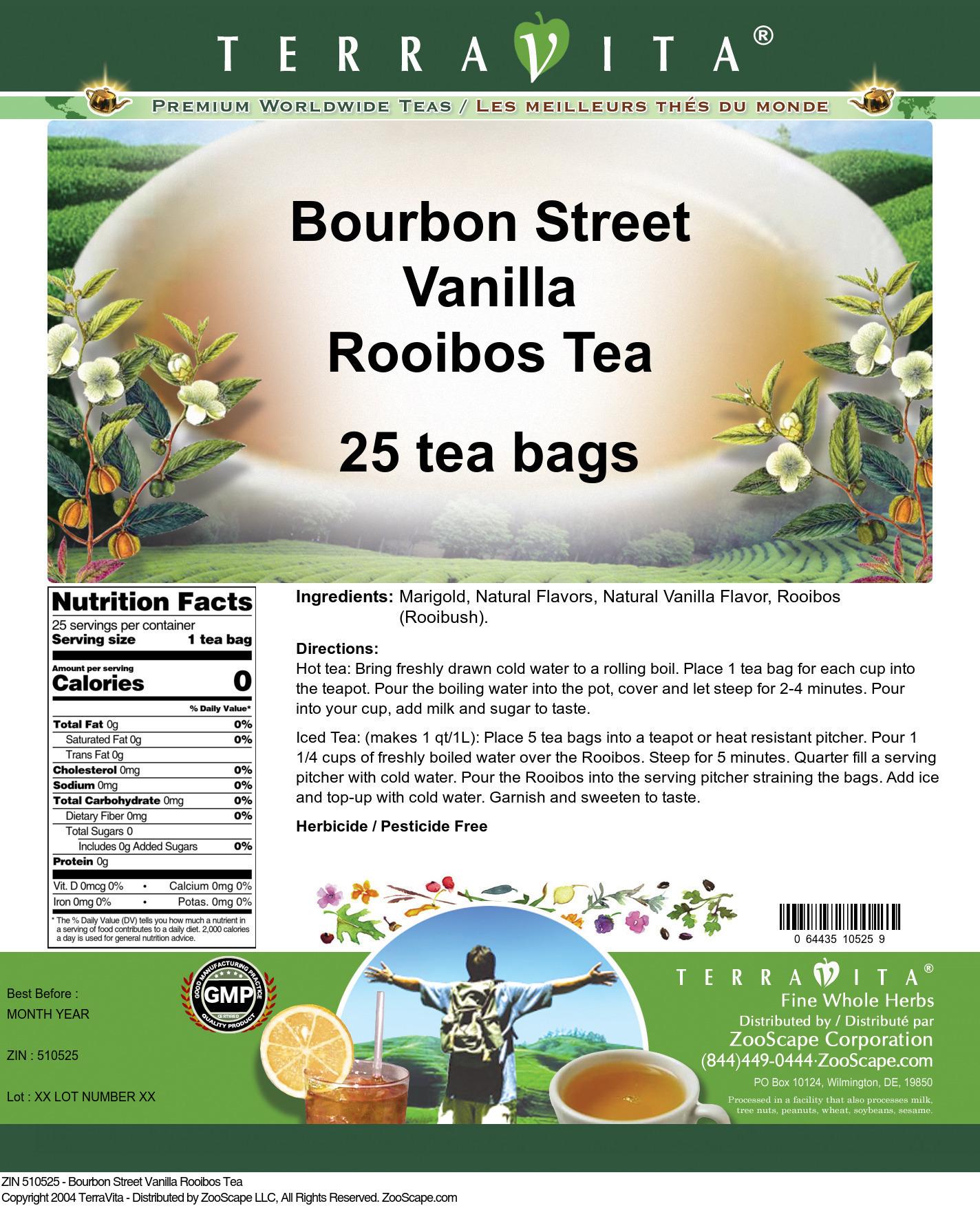 Bourbon Street Vanilla Rooibos