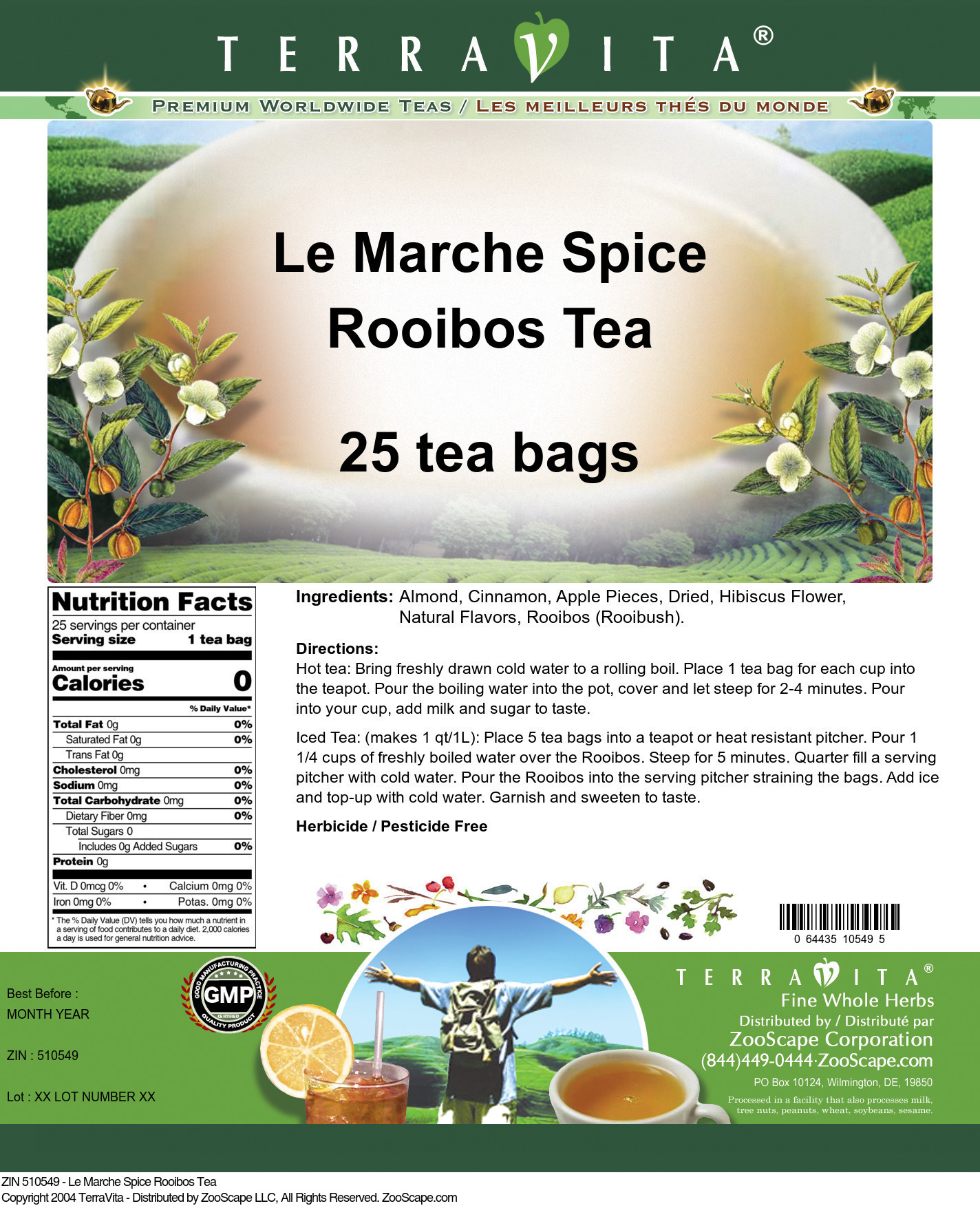 Le Marche Spice Rooibos Tea