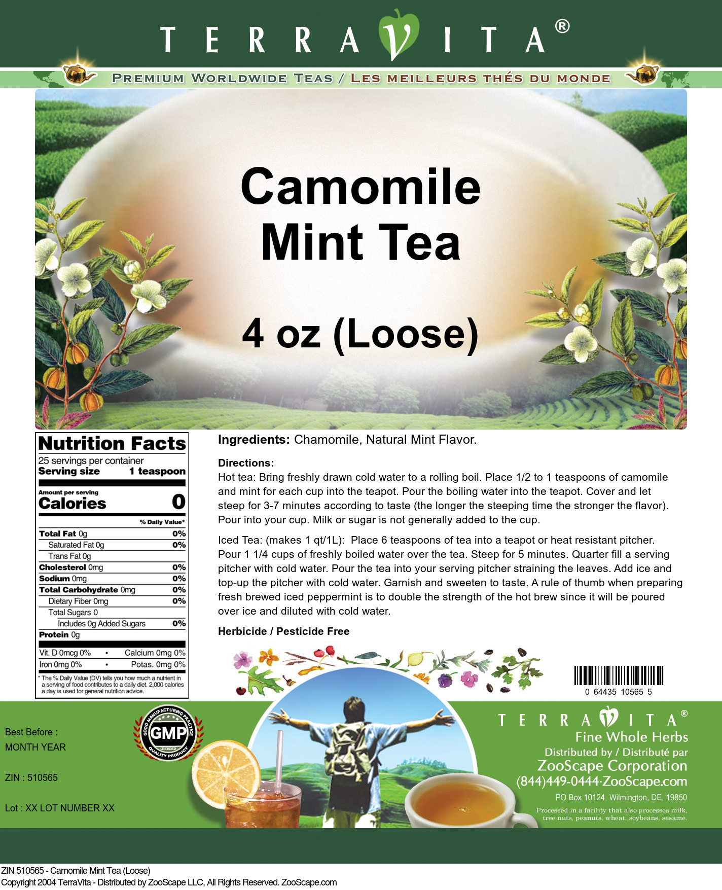 Camomile Mint Tea (Loose)