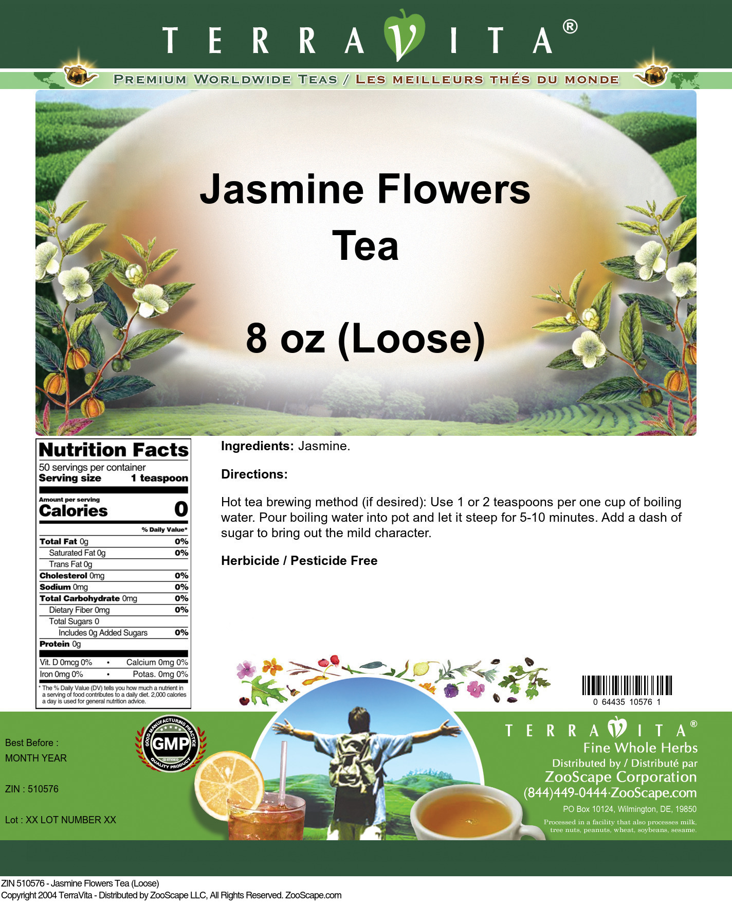Jasmine Flowers Tea (Loose)