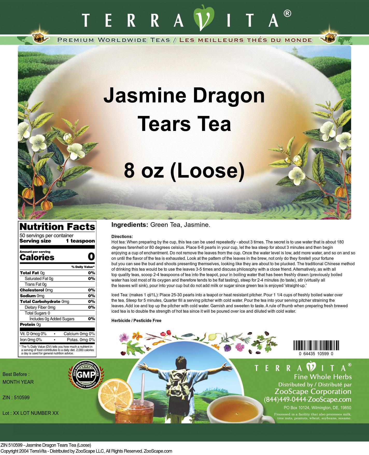 Jasmine Dragon Tears Tea (Loose)
