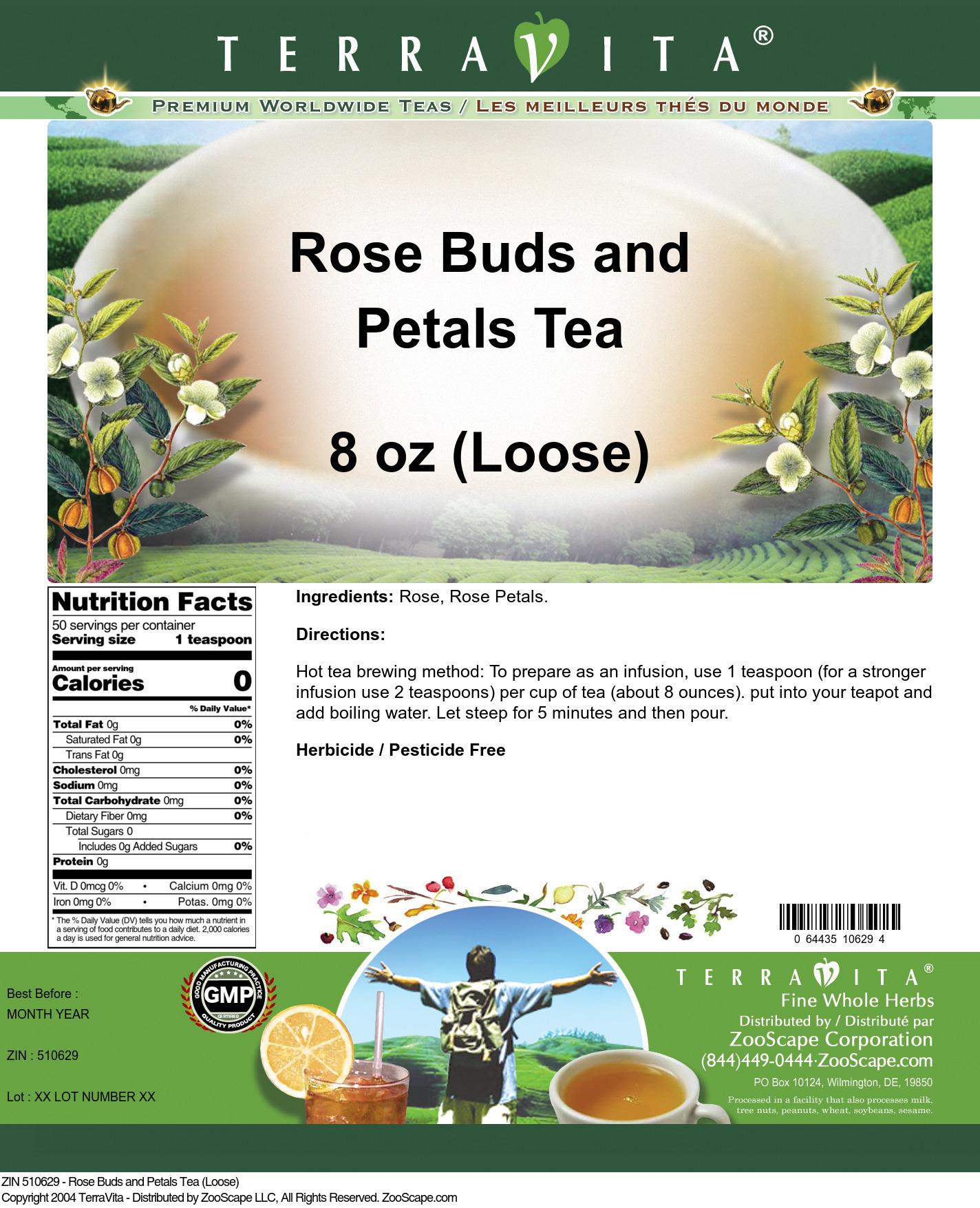 Rose Buds and Petals Tea (Loose)