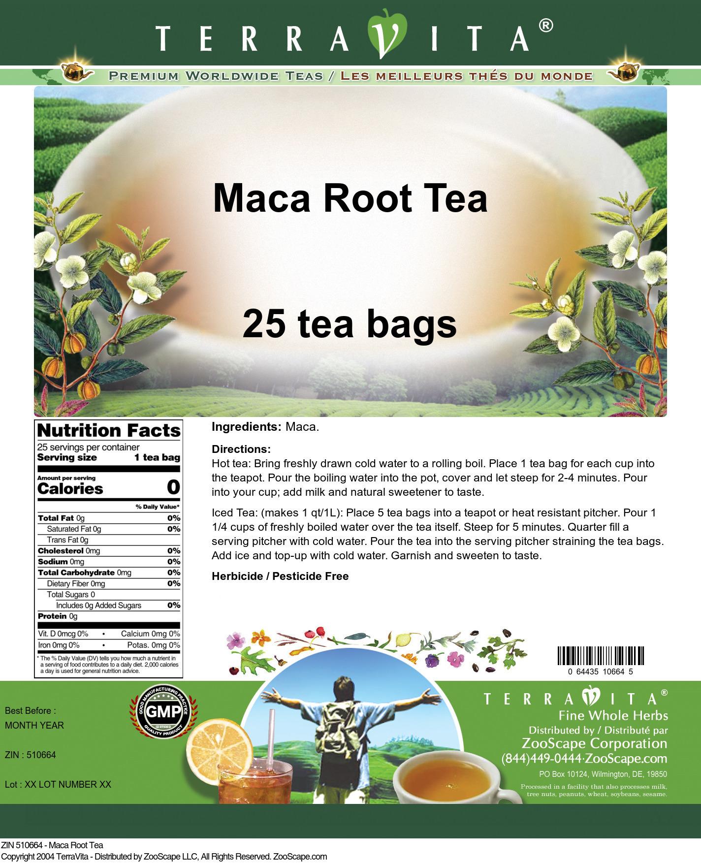 Maca Root Tea