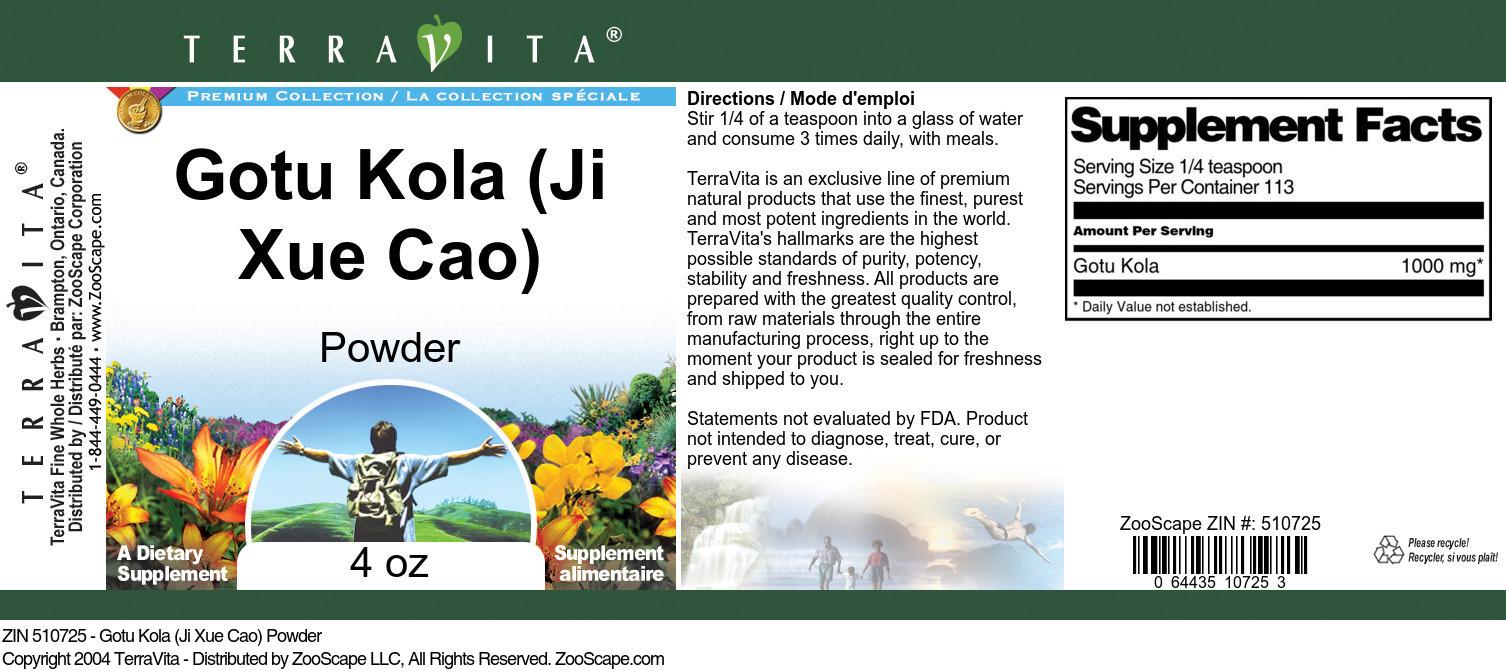 Gotu Kola (Ji Xue Cao) Powder