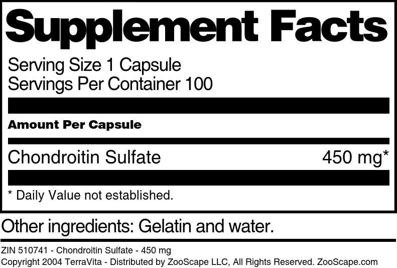 Chondroitin Sulfate - 450 mg