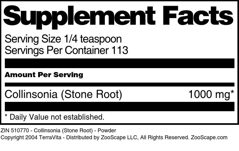 Collinsonia (Stone Root) - Powder