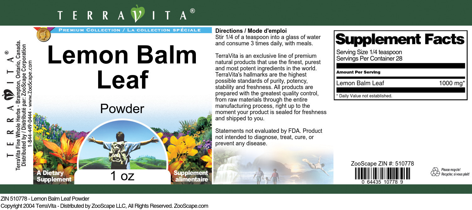 Lemon Balm Leaf Powder