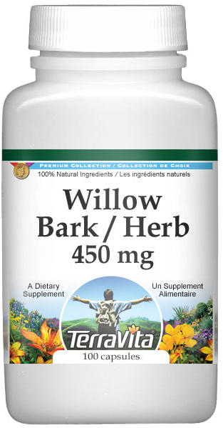Willow Bark and Herb - 450 mg