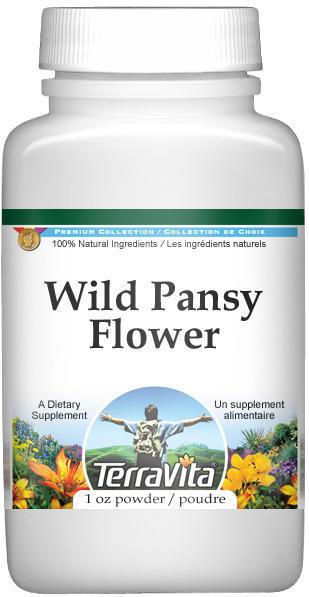 Wild Pansy Flower (Violet, Viola tricolor, Heartsease) Powder