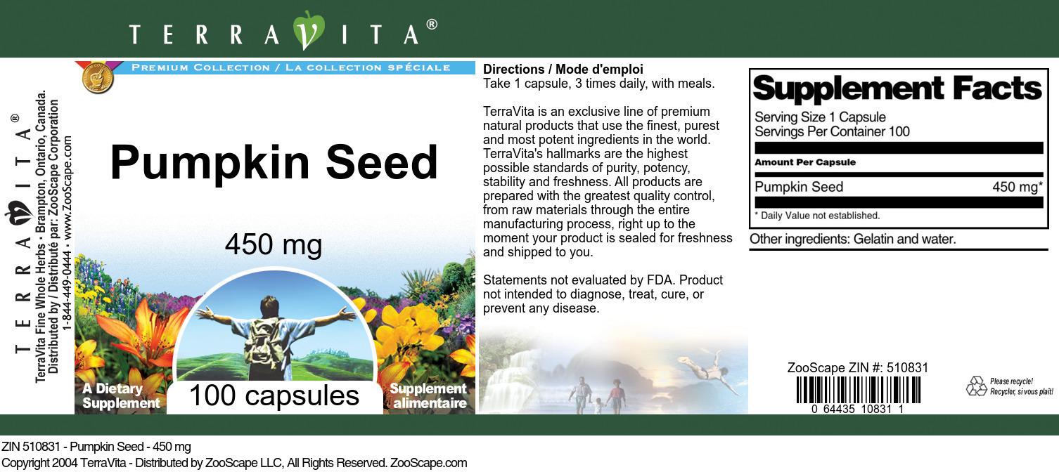 Pumpkin Seed - 450 mg