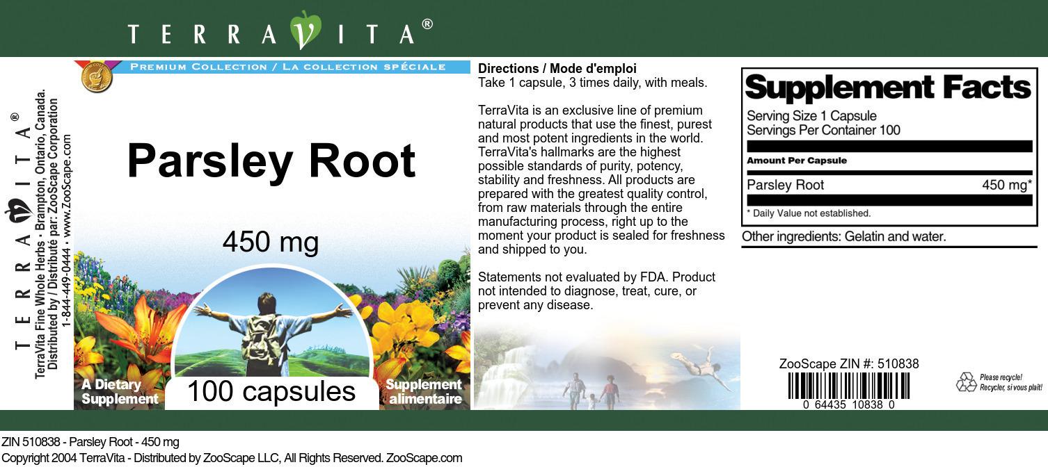 Parsley Root - 450 mg