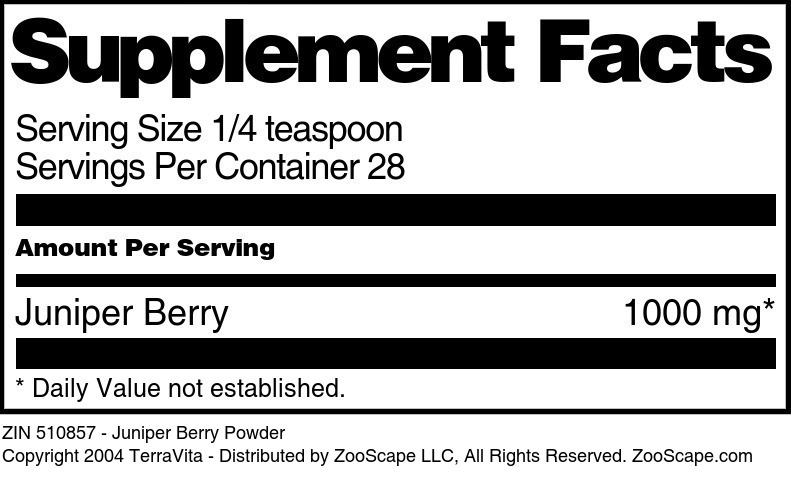Juniper Berry Powder