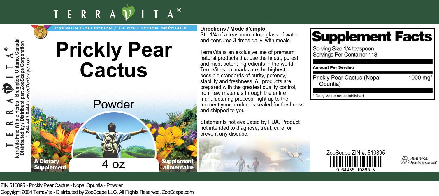 Prickly Pear Cactus - Nopal Opuntia - Powder