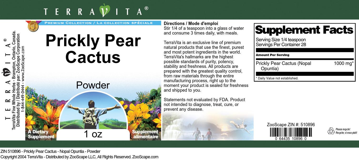 Prickly Pear Cactus <BR>(Nopal Opuntia)