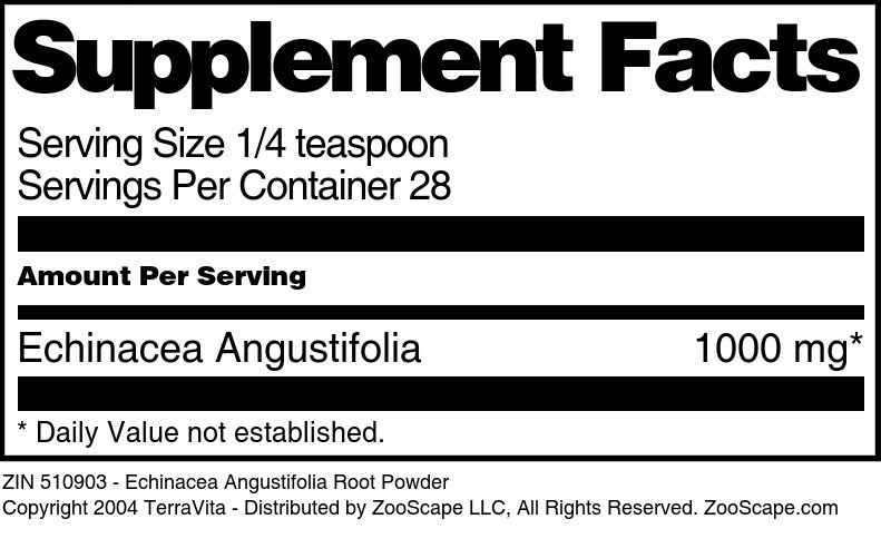 Echinacea Angustifolia Root Powder