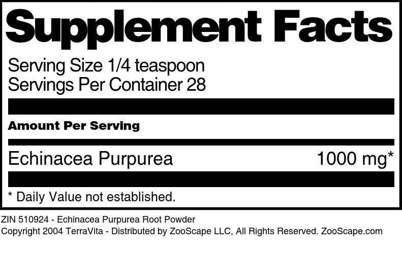 Echinacea Purpurea Root Powder