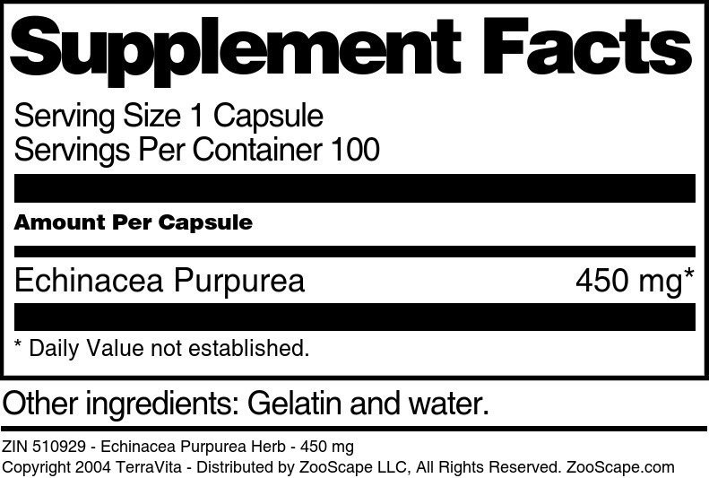 Echinacea Purpurea Herb - 450 mg