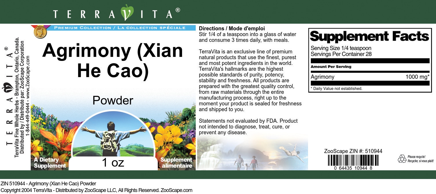 Agrimony (Xian He Cao) Powder
