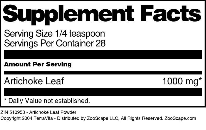 Artichoke Leaf Powder