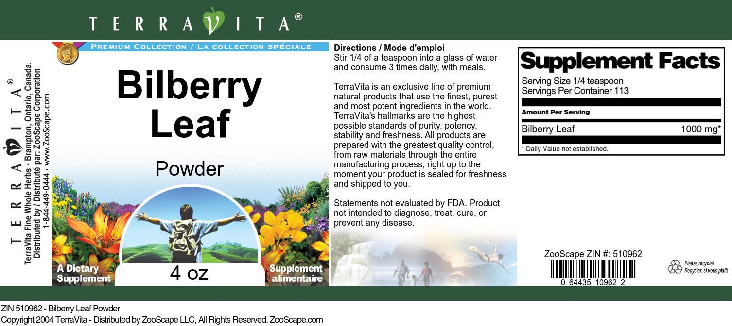 Bilberry Leaf Powder