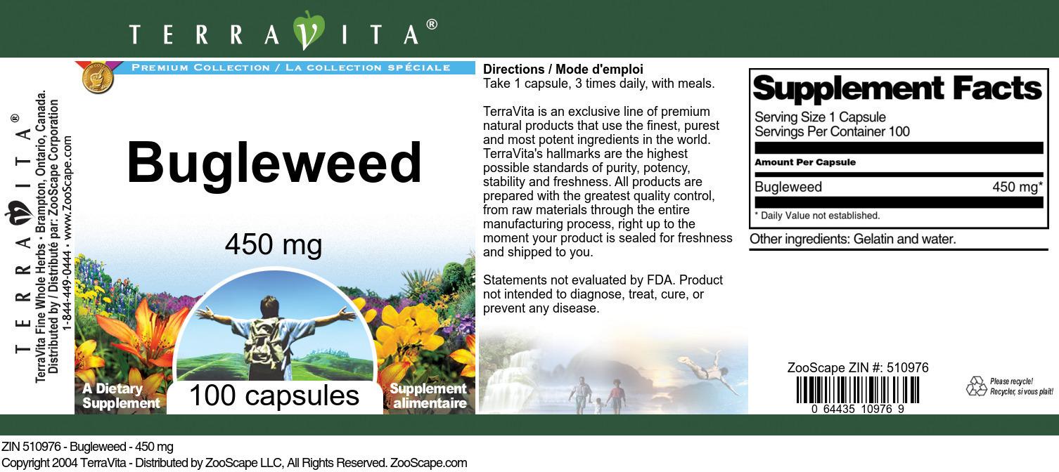 Bugleweed - 450 mg - Label