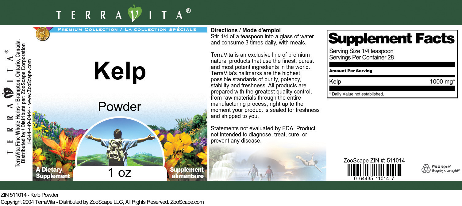 Kelp Powder - Label