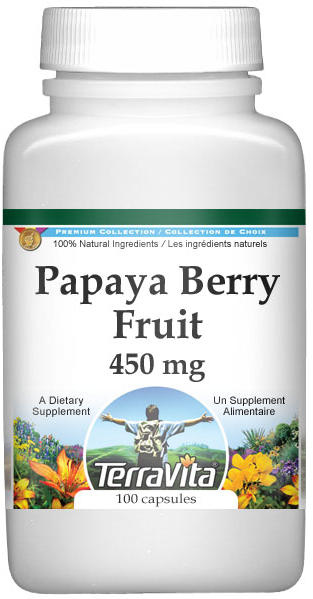 Papaya Berry Fruit - 450 mg
