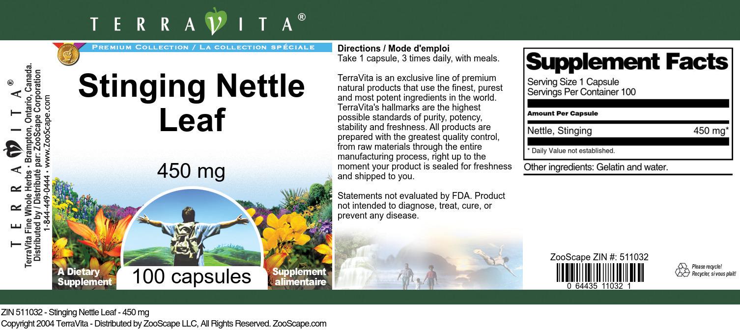 Stinging Nettle Leaf - 450 mg