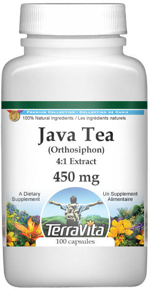 Extra Strength Java Tea (Orthosiphon) 4:1 Extract - 450 mg