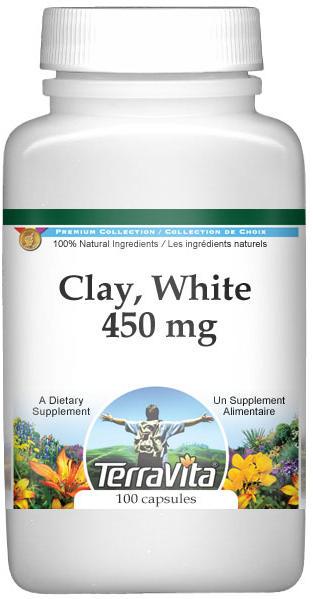 Clay, White - 450 mg