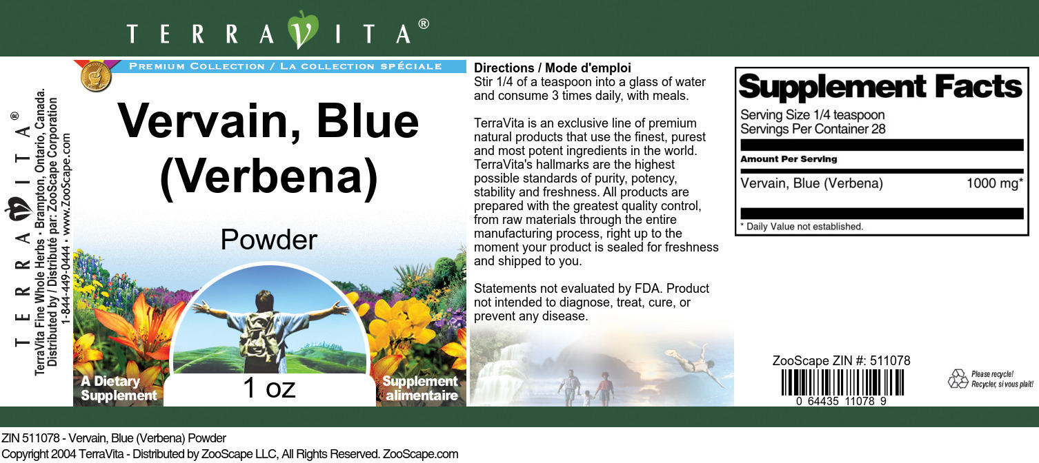 Vervain, Blue (Verbena) Powder