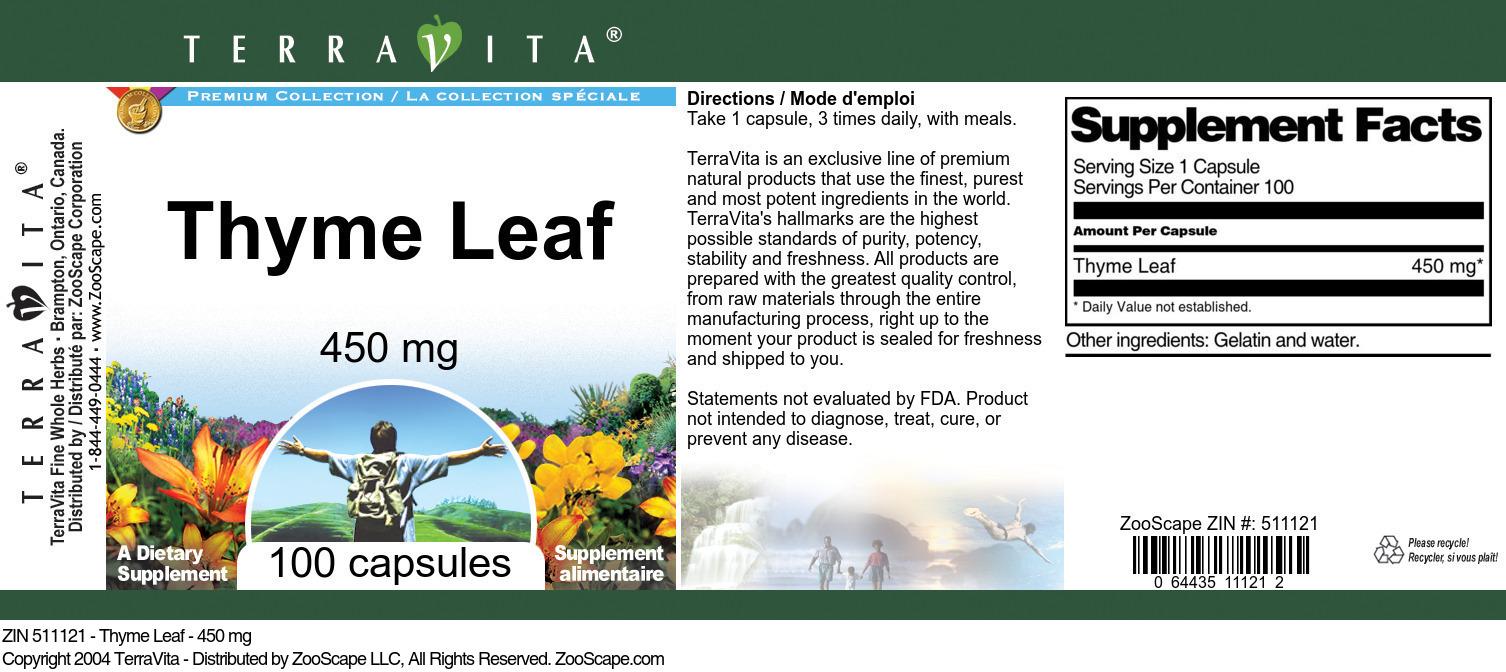 Thyme Leaf - 450 mg