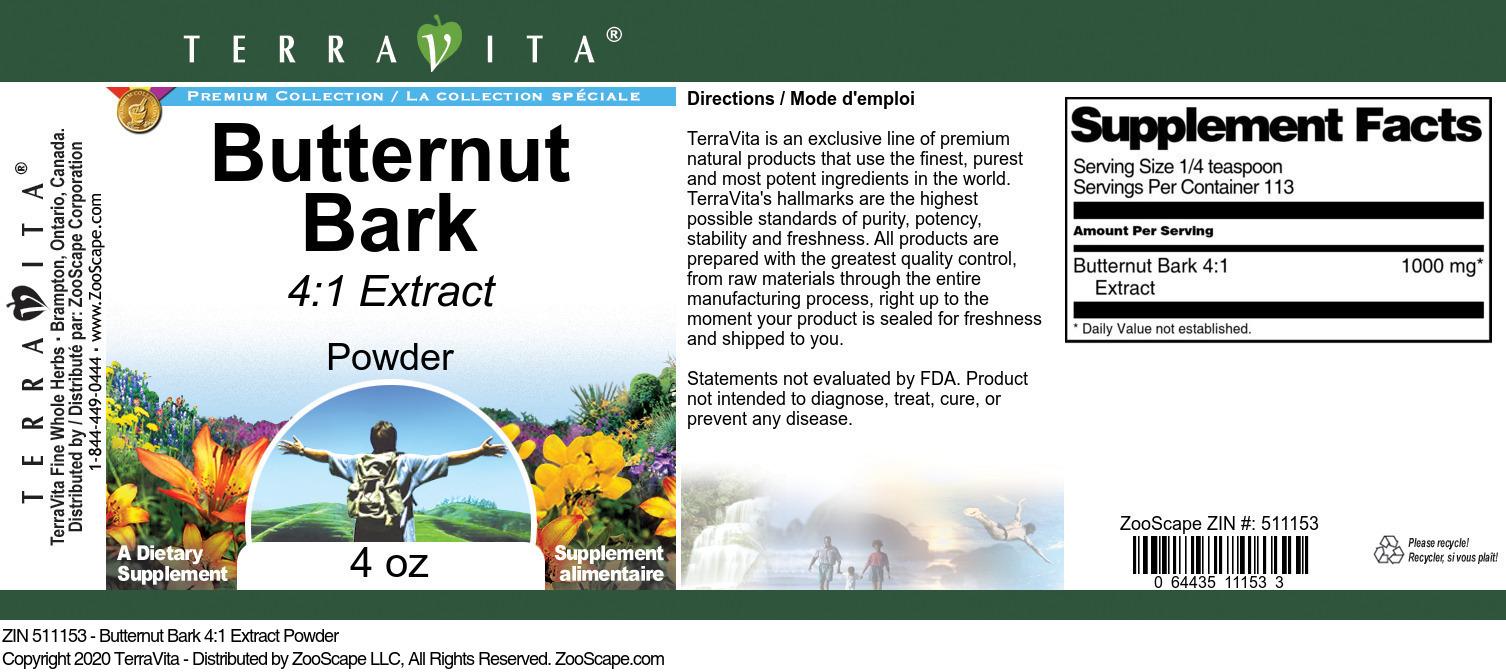 Butternut Bark 4:1 Extract Powder