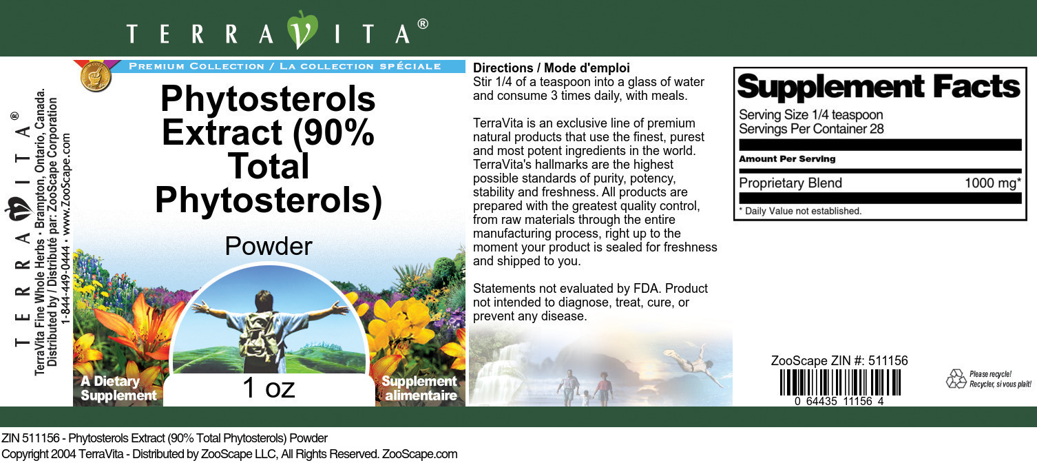 Phytosterols Extract (90% Total Phytosterols) Powder