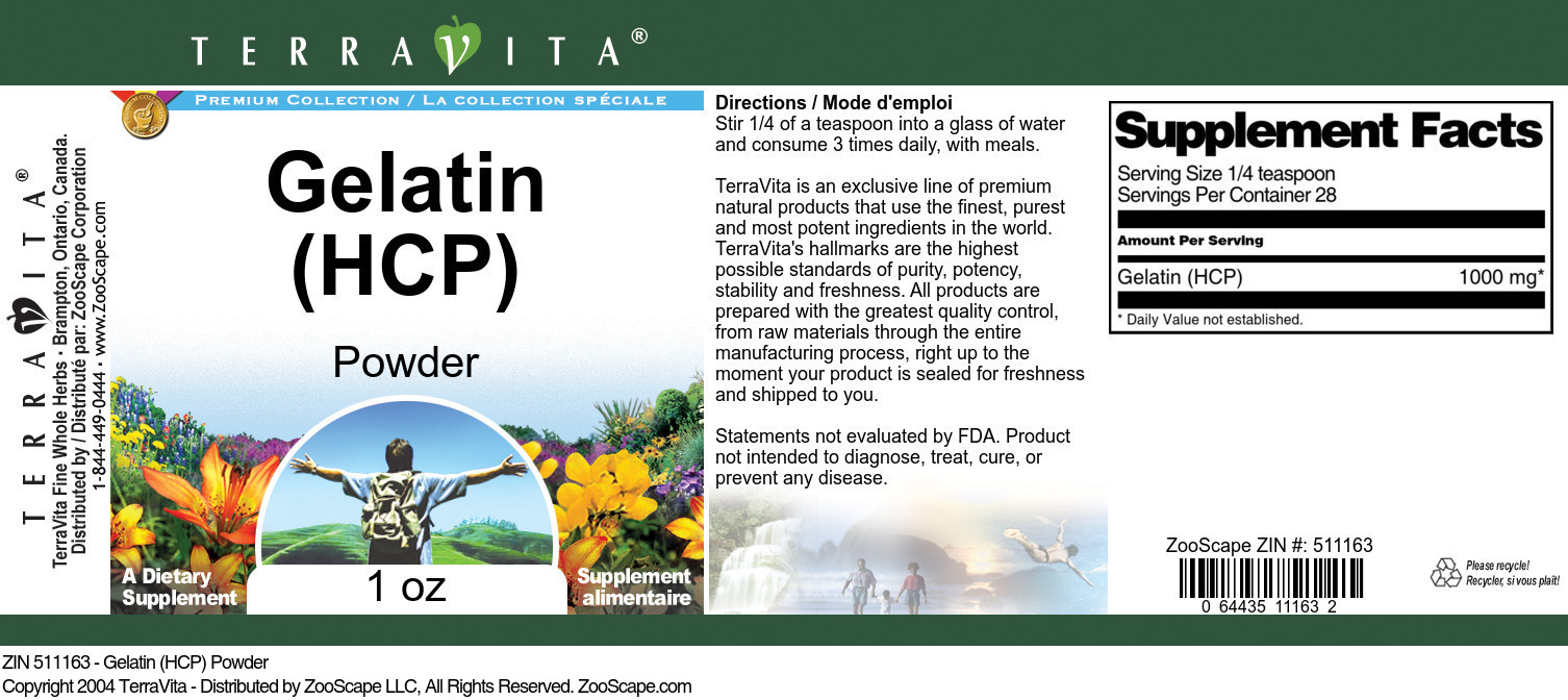 Gelatin <BR>(HCP)