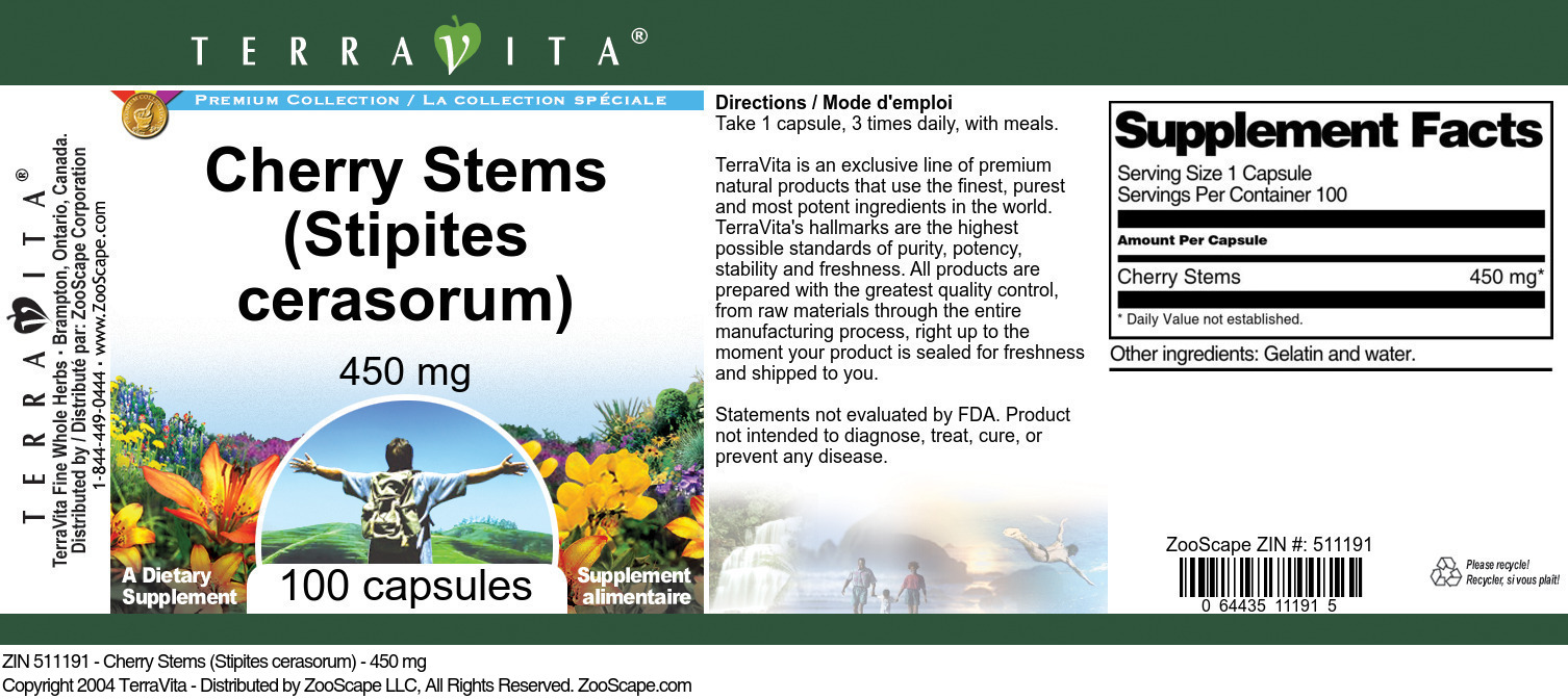 Cherry Stems (Stipites cerasorum) - 450 mg